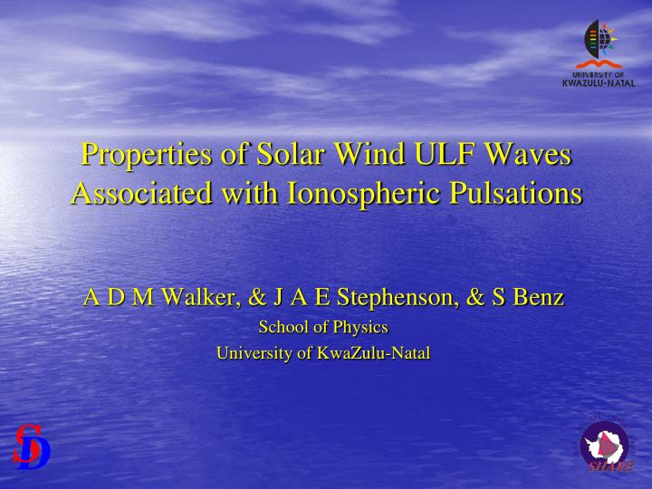 Properties of Solar Wind ULF Waves Associated with