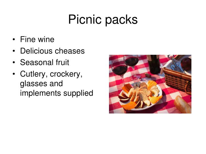 Picnic packs