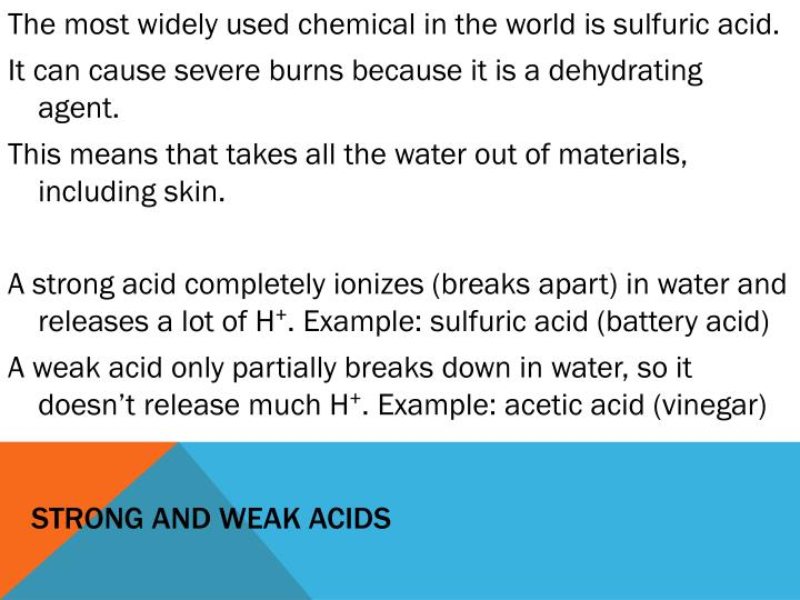 Strong and weak acids