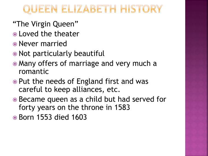 Queen Elizabeth History