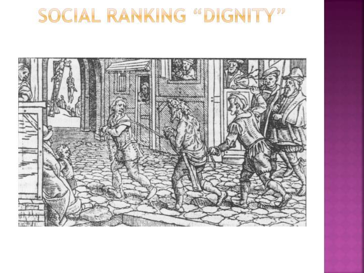 """Social Ranking """"Dignity"""""""