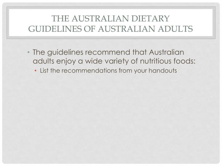 the australian dietary guidelines pdf