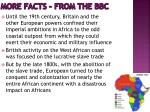 more facts from the bbc