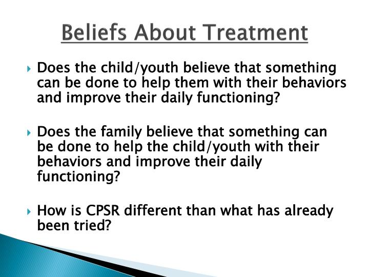 Beliefs About Treatment