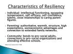 characteristics of resiliency