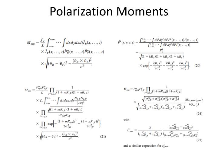 Polarization Moments