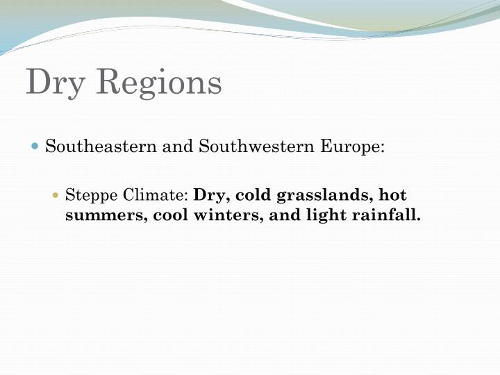 Dry Regions