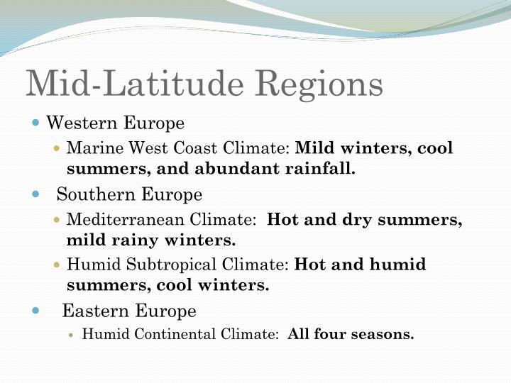 Mid-Latitude Regions
