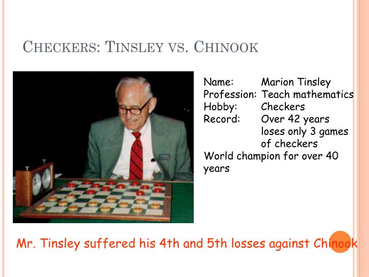 Checkers: Tinsley vs. Chinook