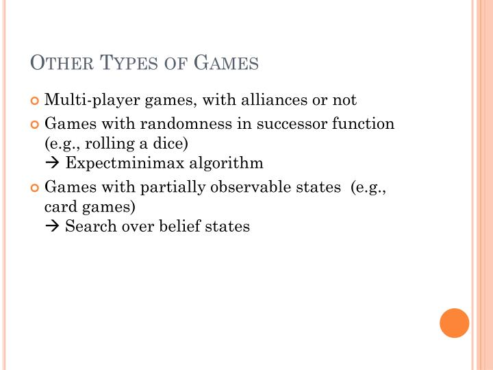 Other Types of Games