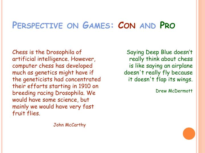 Perspective on Games: