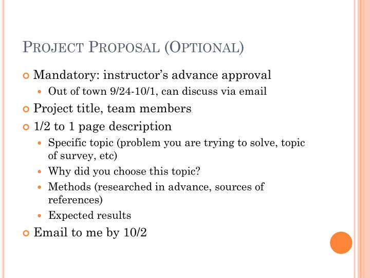 Project Proposal (Optional)