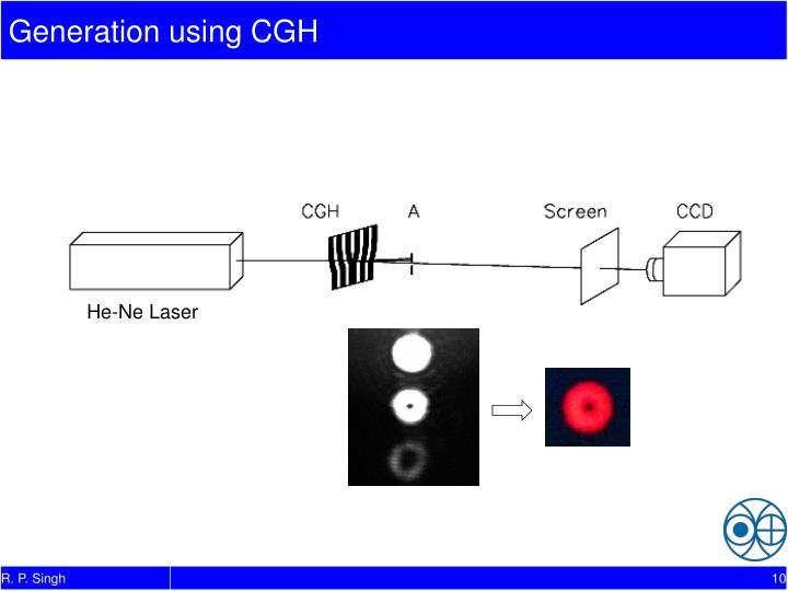 Generation using CGH