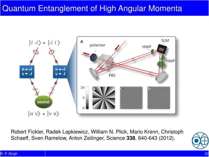 Quantum Entanglement of High Angular Momenta