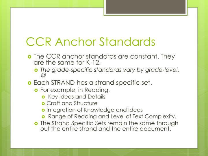 CCR Anchor Standards