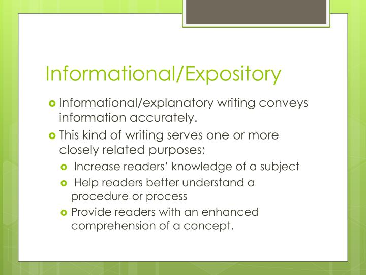 Informational/Expository