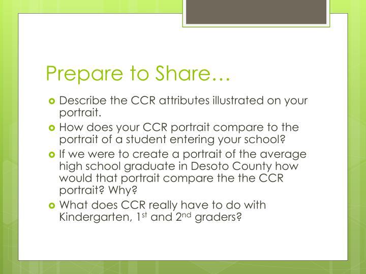 Prepare to Share…