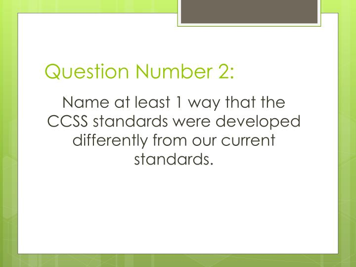 Question Number 2: