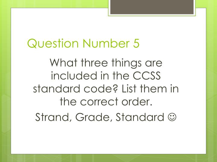 Question Number 5