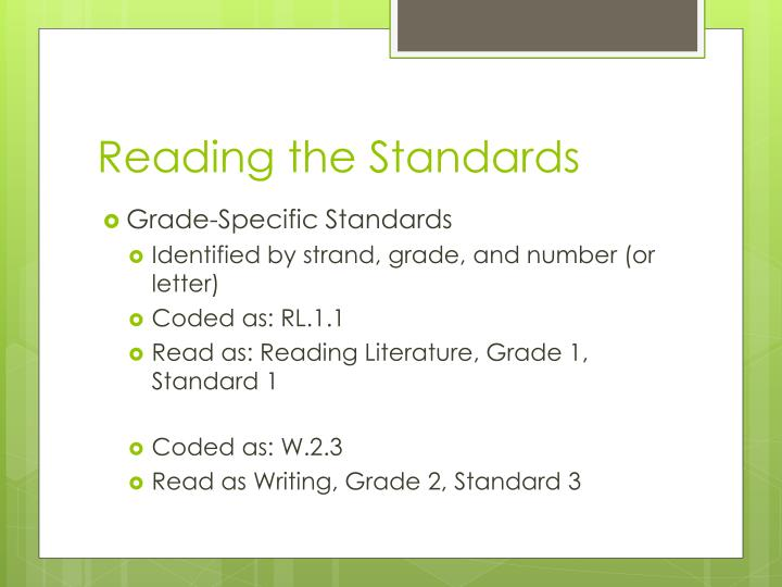 Reading the Standards