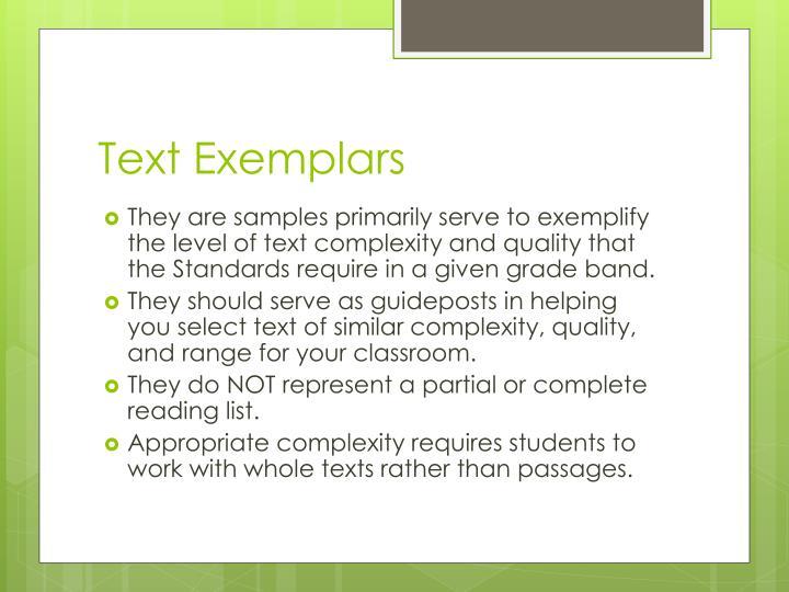 Text Exemplars