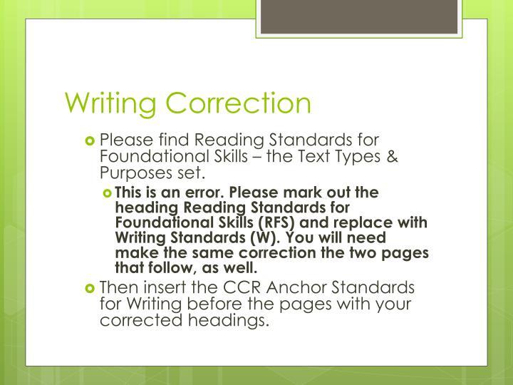 Writing Correction