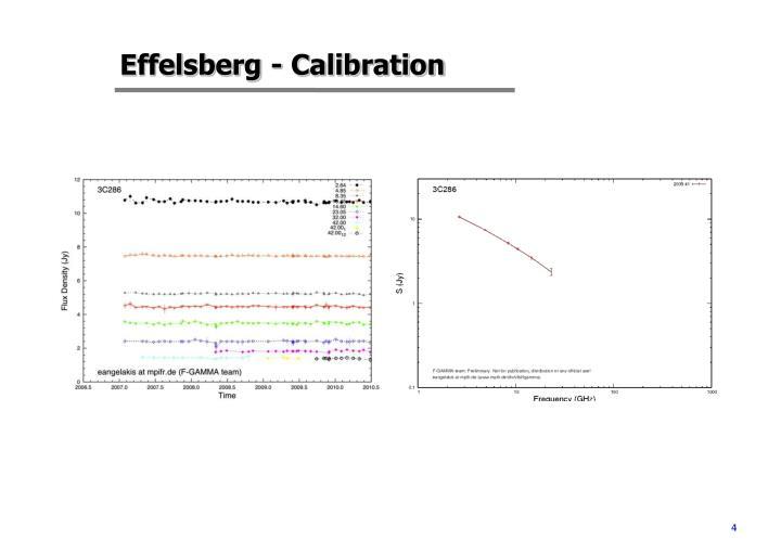 Effelsberg - Calibration