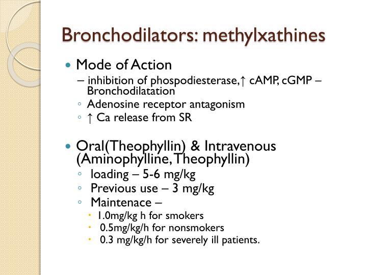 Bronchodilators: