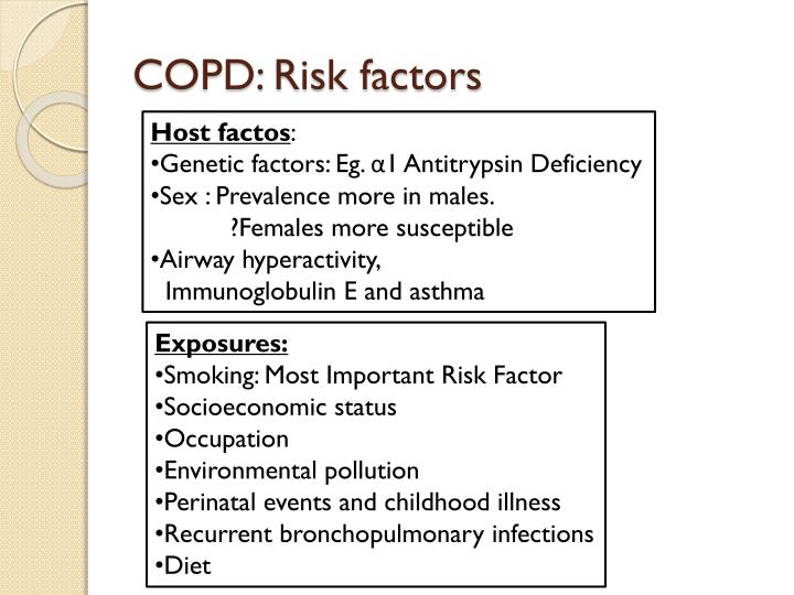 COPD: Risk factors