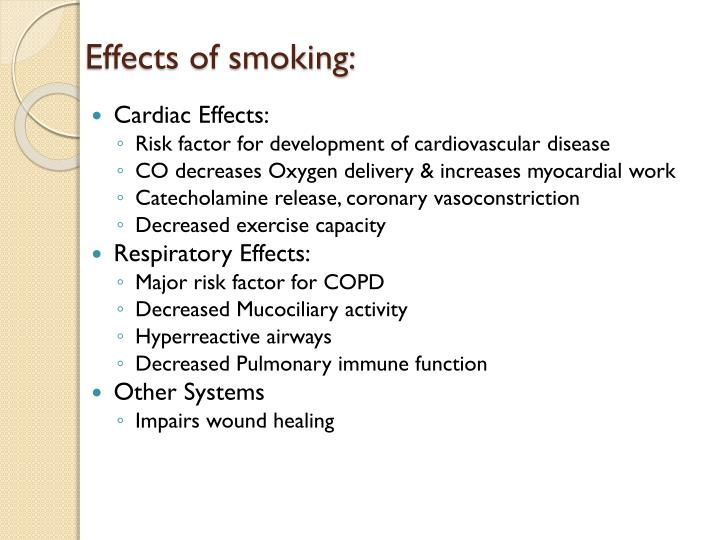 Effects of smoking: