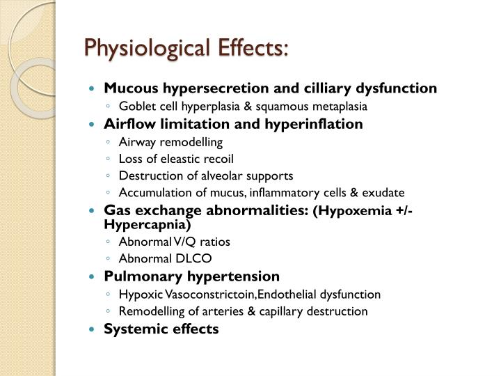Physiological Effects: