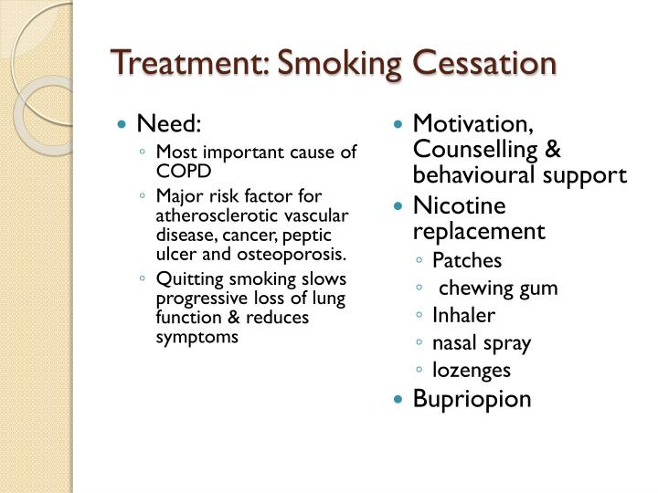 Treatment: Smoking Cessation