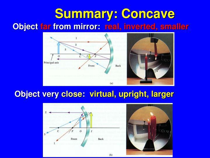 Summary: Concave