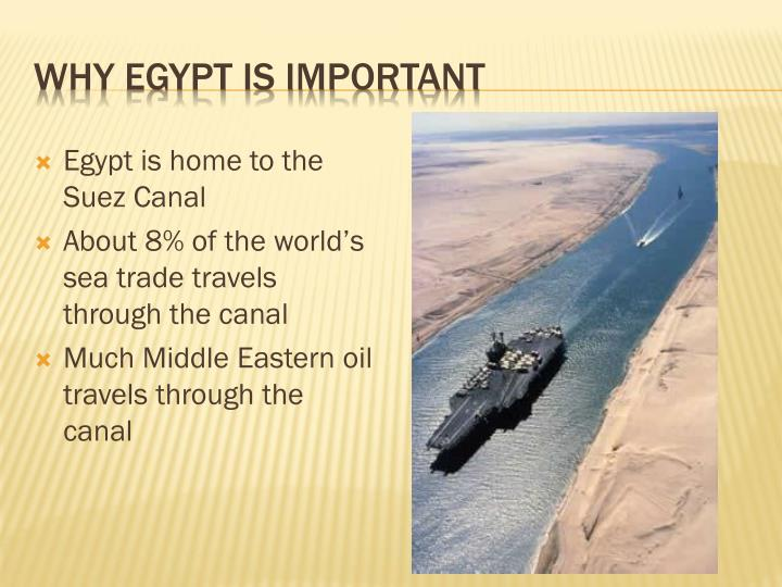 Why Egypt is important