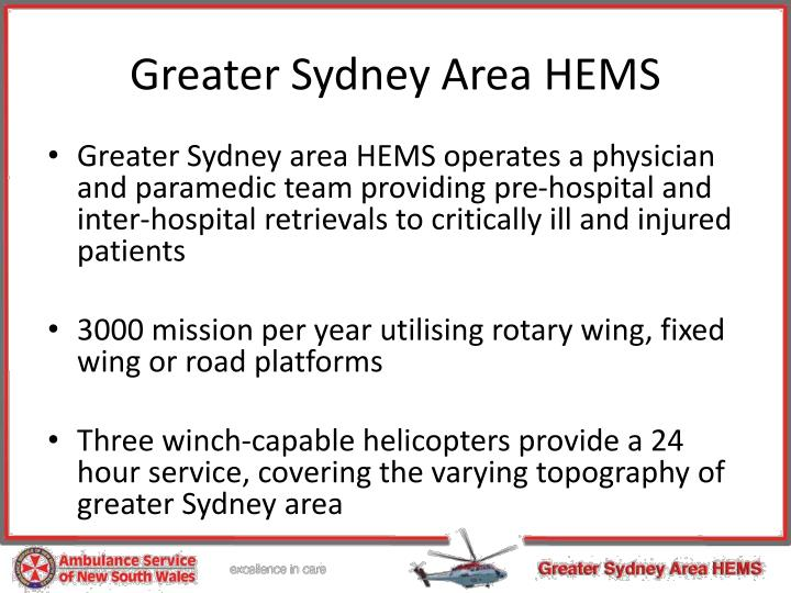 Greater Sydney Area HEMS