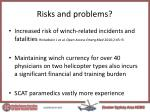 risks and problems