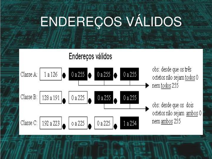 ENDEREÇOS VÁLIDOS