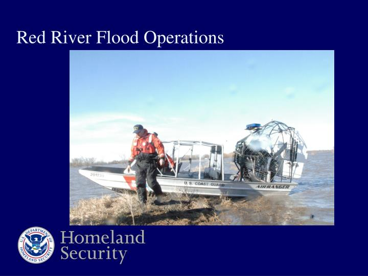 Red river flood operations
