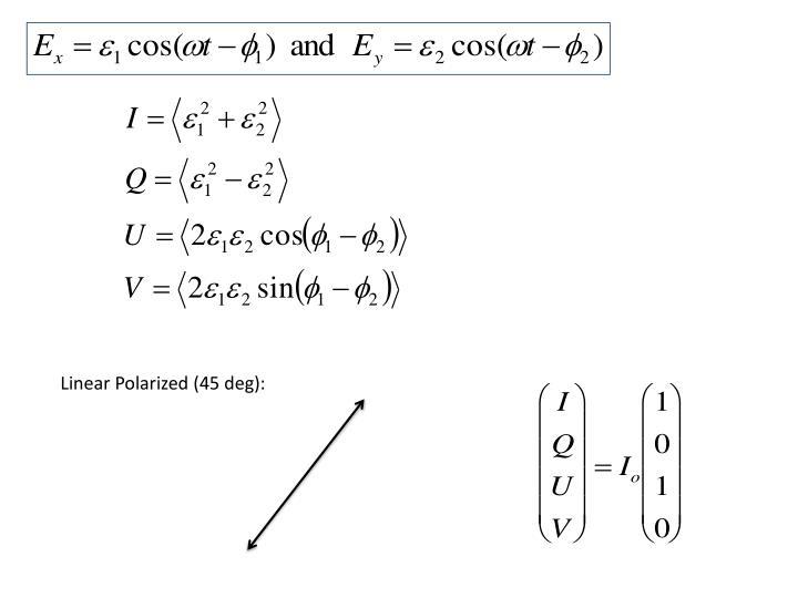 Linear Polarized (45 deg):