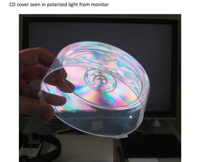 CD cover seen in polarized light from monitor