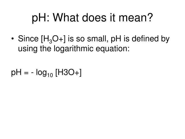 pH: What does it mean?