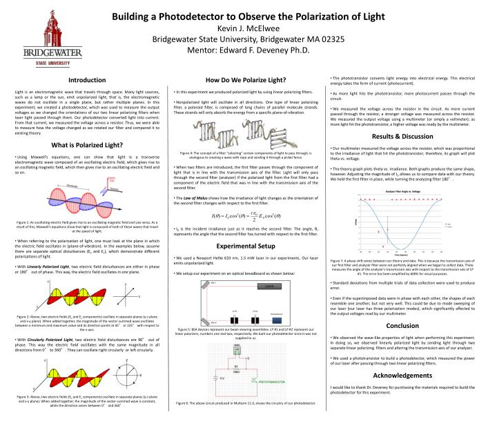 Building a Photodetector to Observe the Polarization of Light