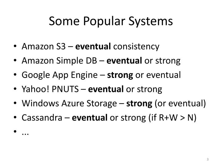 Some Popular Systems