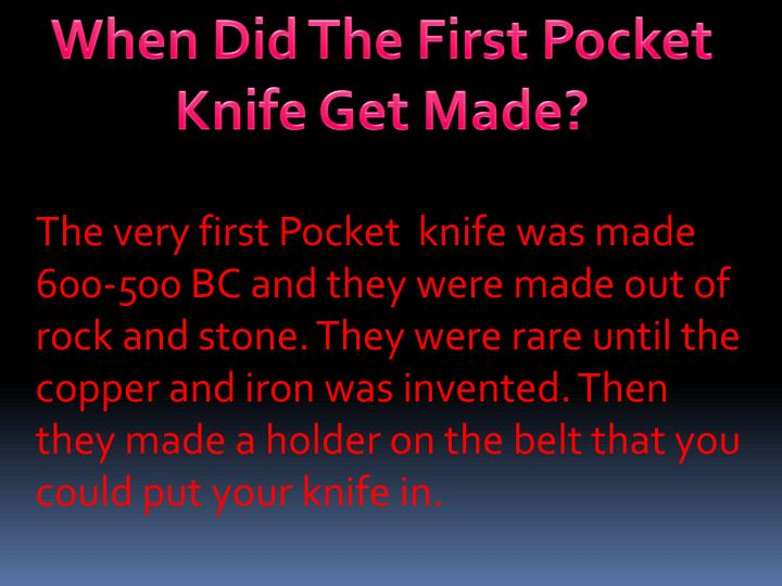 When Did The First Pocket