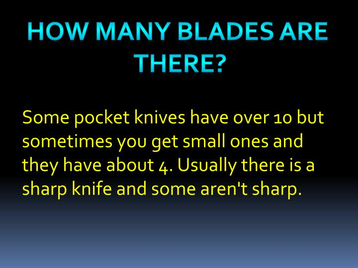 How many blades are