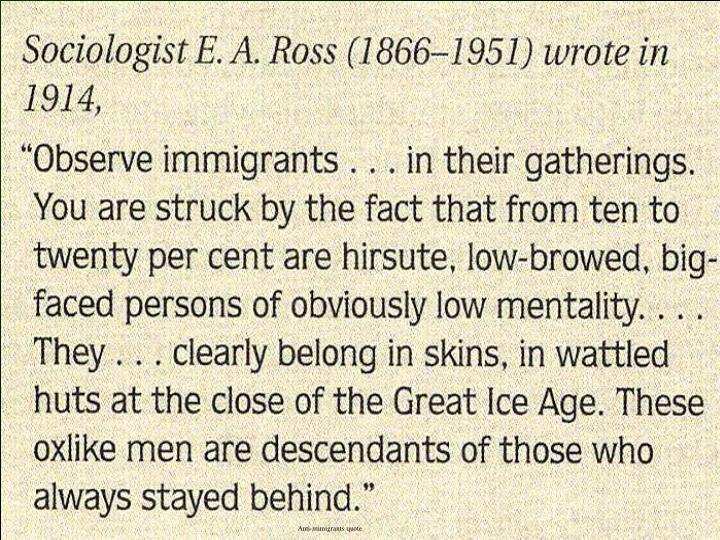 Anti-immigrants quote