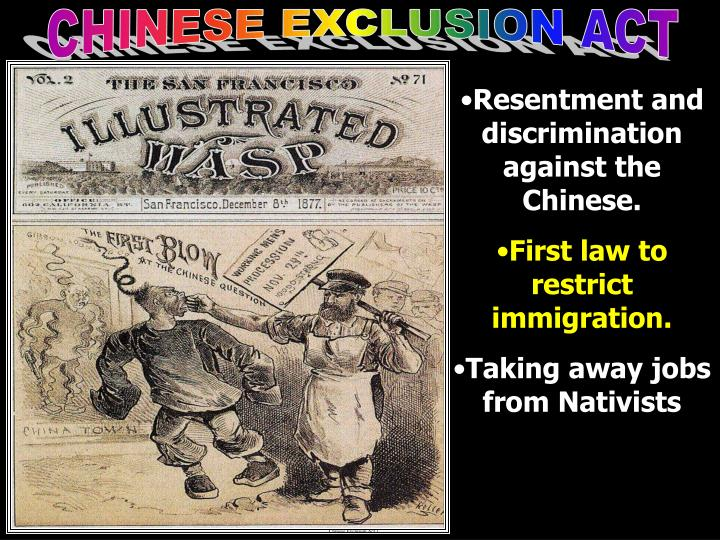 Chinese Exclusion Act 1