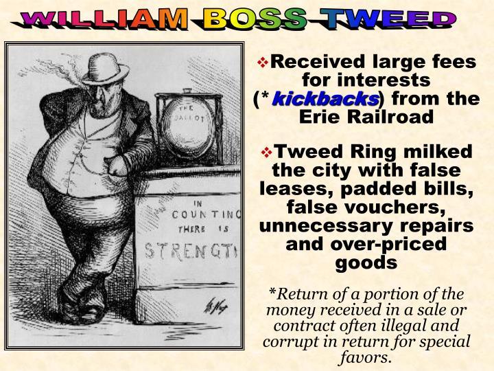 WILLIAM BOSS TWEED