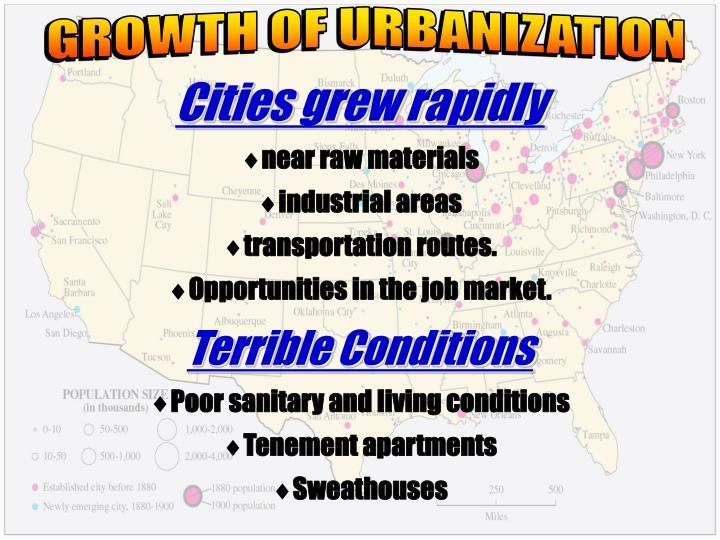 GROWTH OF URBANIZATION