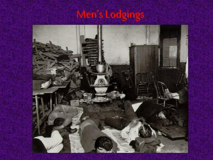 Men's Lodgings